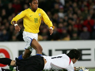 Robinho World Cup 2010 Brazil Football Player