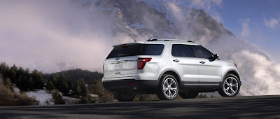 2011 Ford Explorer Rear Angle View