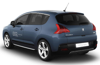 2012 Peugeot 3008 HYbrid4 Rear Side View
