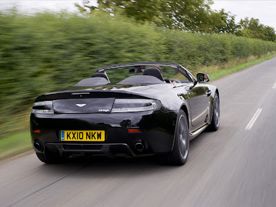 Aston Martin V8 Vantage N420 Roadster Rear Action View