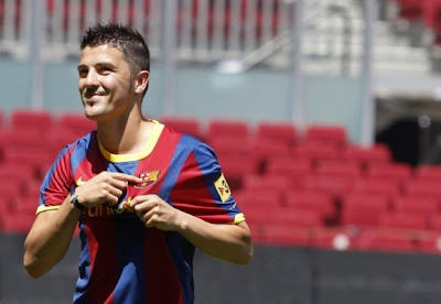 David Villa Barcelona Soccer Player