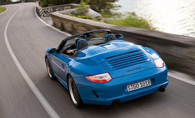 2011 Porsche 911 Speedster Rear Top View