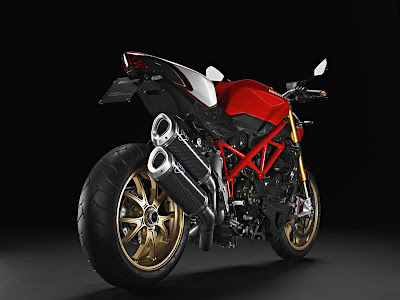 2011 Ducati Streetfighter S Rear Angle View