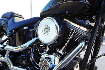2011 Harley-Davidson FXS Blackline Softail Engine Photo