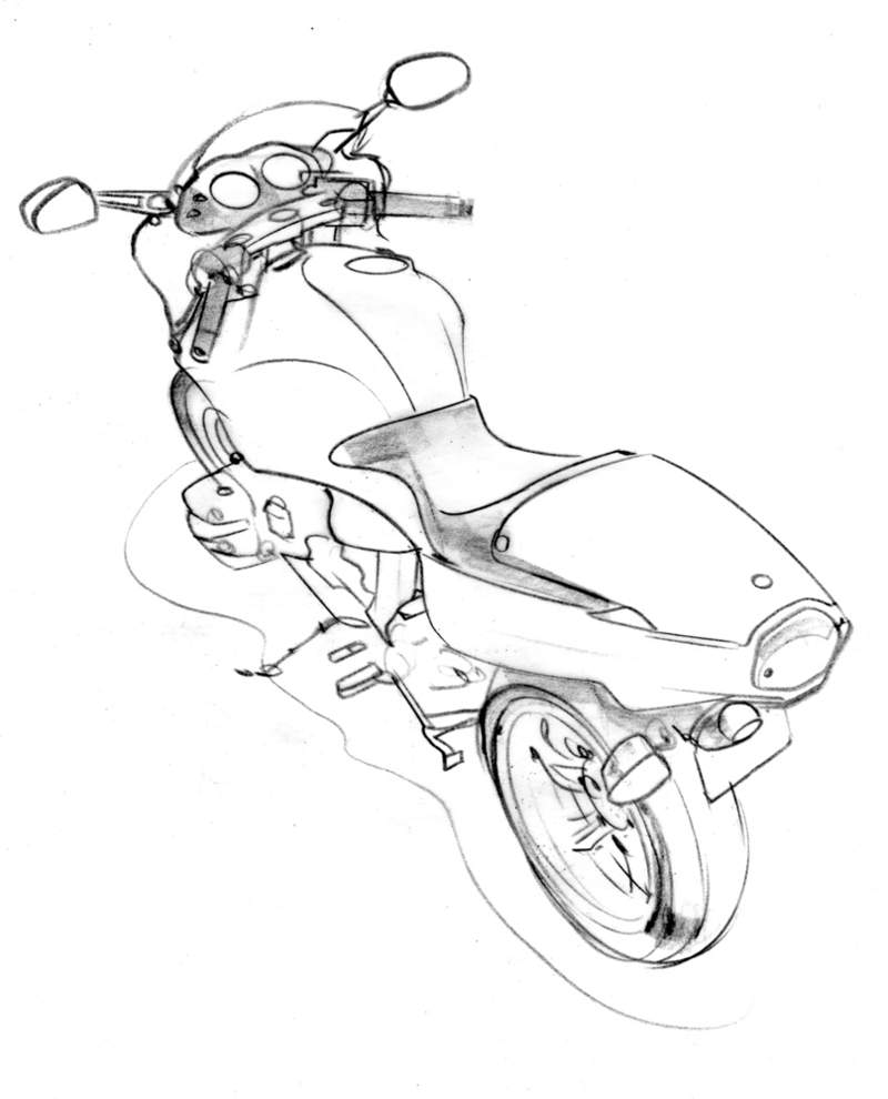 Drawing Lines R : On two wheels line drawings