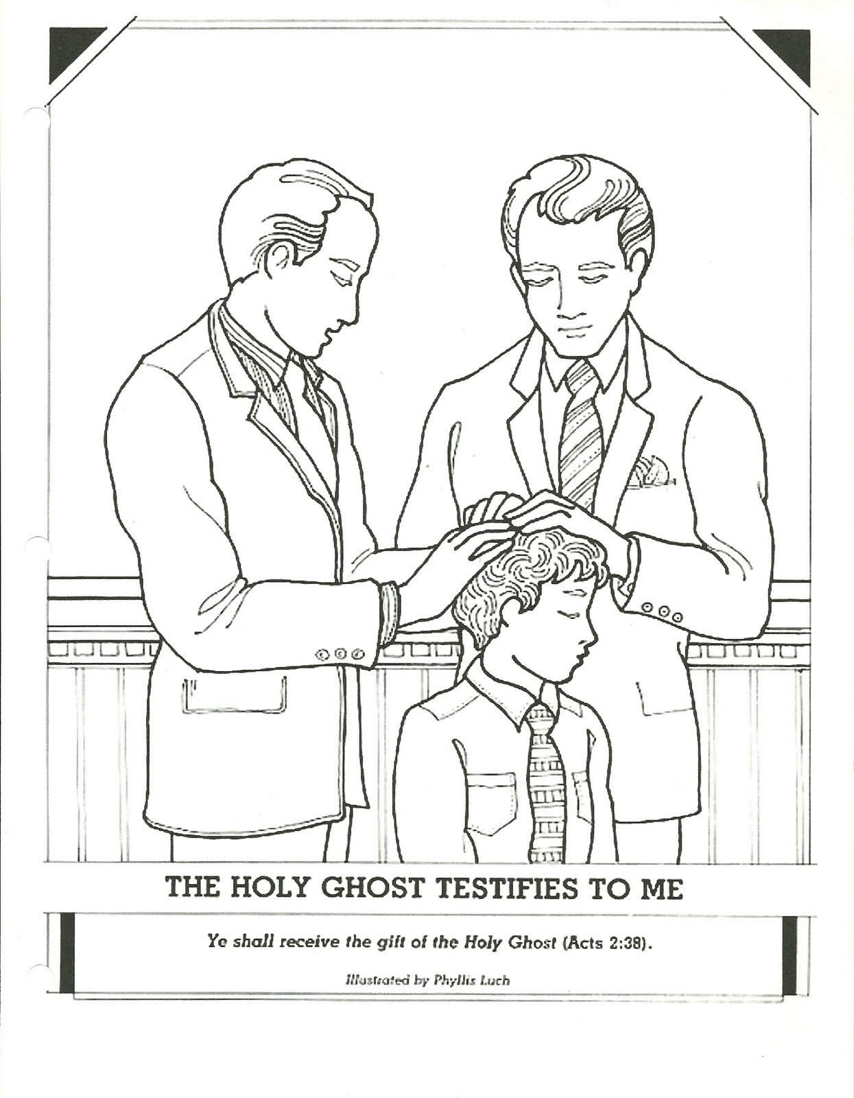Lds gifts of the holy spirit coloring pages sketch for Lds holy ghost coloring page