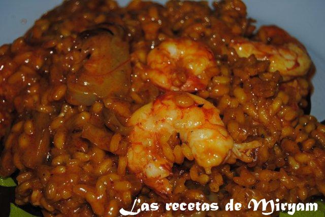 Las recetas de miryam arroz con gambas y alcachofas - Arroz con alcachofas y jamon ...