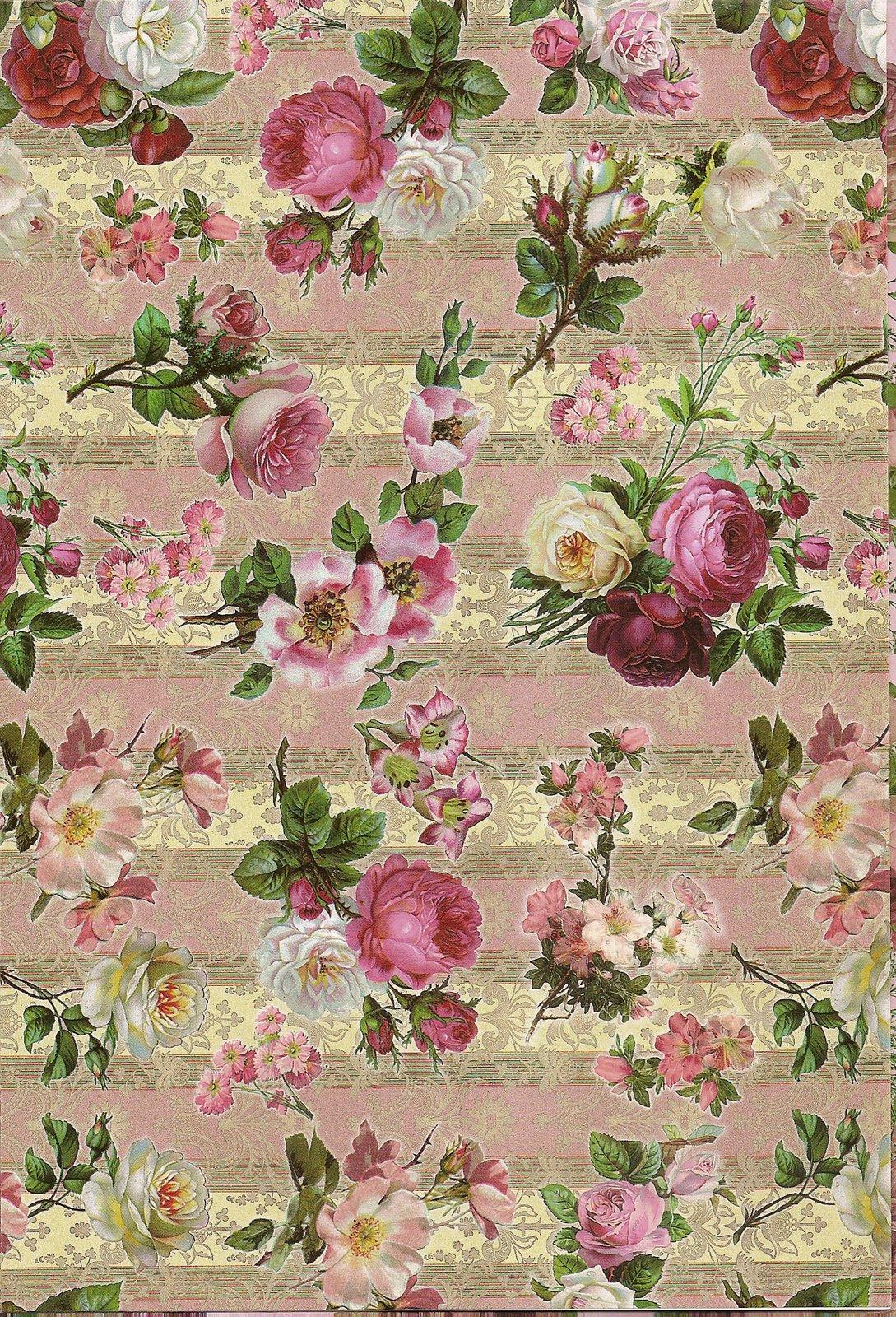 Laminas decoupage laminas de flores para los trabajos for Laminas para pared