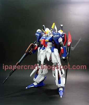 This is Gundam Hyper MSZ006 Zeta Papercraft, but I have only Head and Body ...