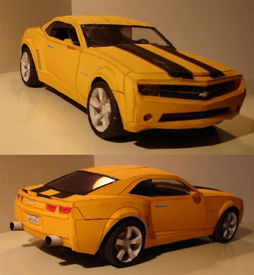 Camaro Transformers on Camaro Bumblebee Transformers Papercraft 1 Jpg