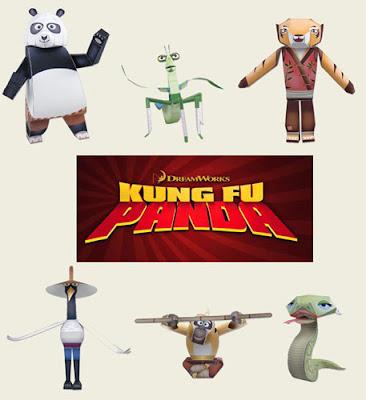 Kung Fu Panda Papercraft