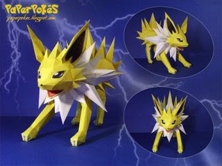 Pokemon Papercraft - Jolteon