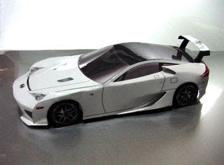 car papercraft lexus lfa