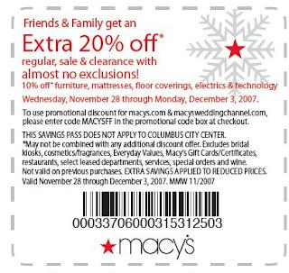 macys printable coupons 20 off