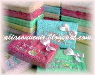 souvenir handuk,kelahiran bayi