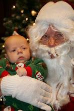Cooper with Santa Claus