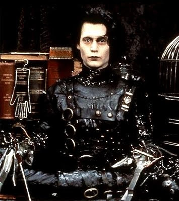 Johnny Depp in movie Edward Scissorshands