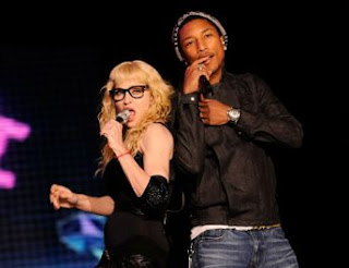 Madonna With Pahrell Williams