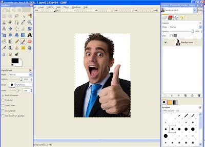 gimp 1 How To Make An Image Transparent