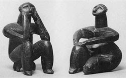 Neolithic figurines created by the Hamangian culture
