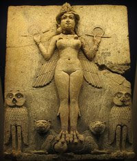 Babylonian relief of Ishtar