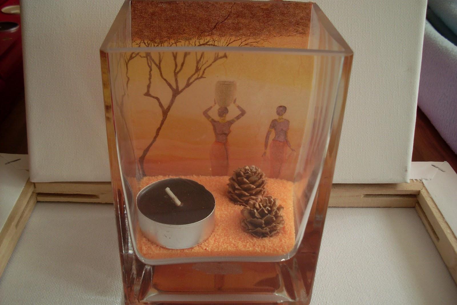 Les cr ations artisanal de st phanie photophores en verre avec - Bougies flottantes ikea ...