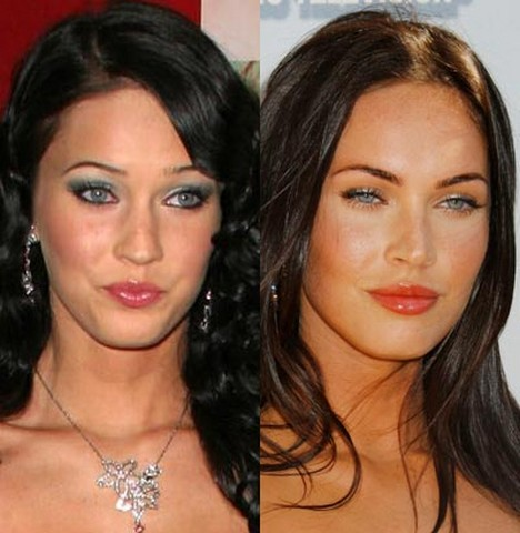 megan fox before plastic surgery pictures. megan fox before after surgery