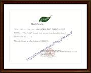 Certificate Jun Gong