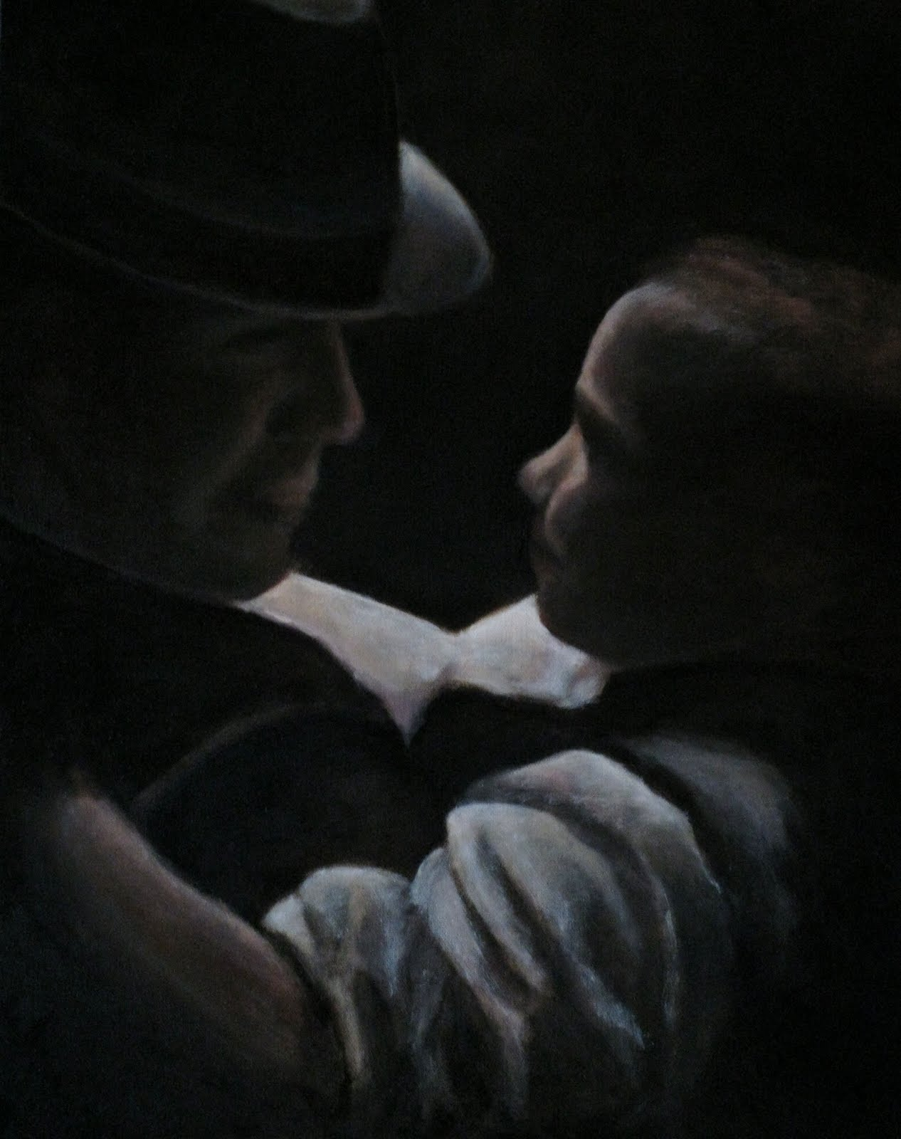 Father%2Band%2BSon Father and Son 16x20 oil. It was my first tonal painting so I learned ...