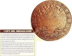 U.F.O.  NEL MEDAGLIONE FRANCESE ANNO 1680