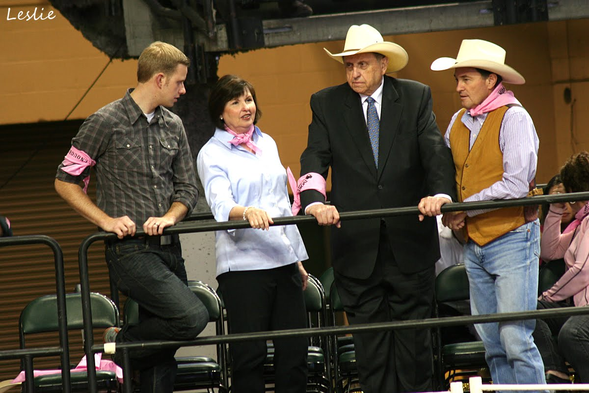 President Monson at rodeo.