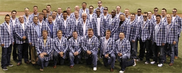 Tampa Bay Rays wearing plaid