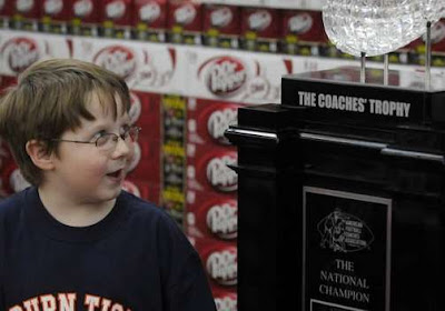 BCS trophy in Walmart