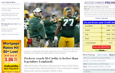 Is Mike McCarthy really a better coach than Vince Lombardi