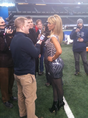 Ines Sainz at Super Bowl media day