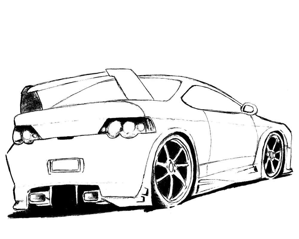 Artes criativas desenho de carro - Porche para colorear ...