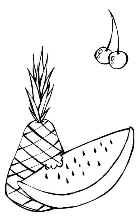 Desenhos De Frutas Risco Futas Colorir Infantil