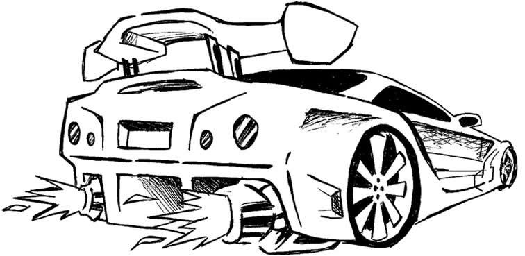 Dibujos para colorear carros tuning - Imagui