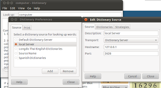 Default dictionaty configuration
