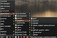 antiX linux operating system graphics menu
