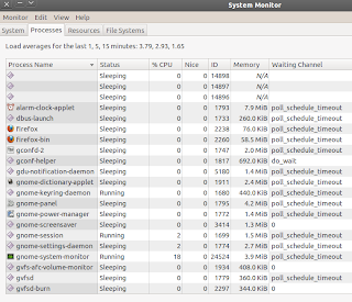Both CPU running almost 100% on maverick meerkat system monitor process