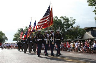 The United States Marines Open the 2008 4th on Broadway Parade.