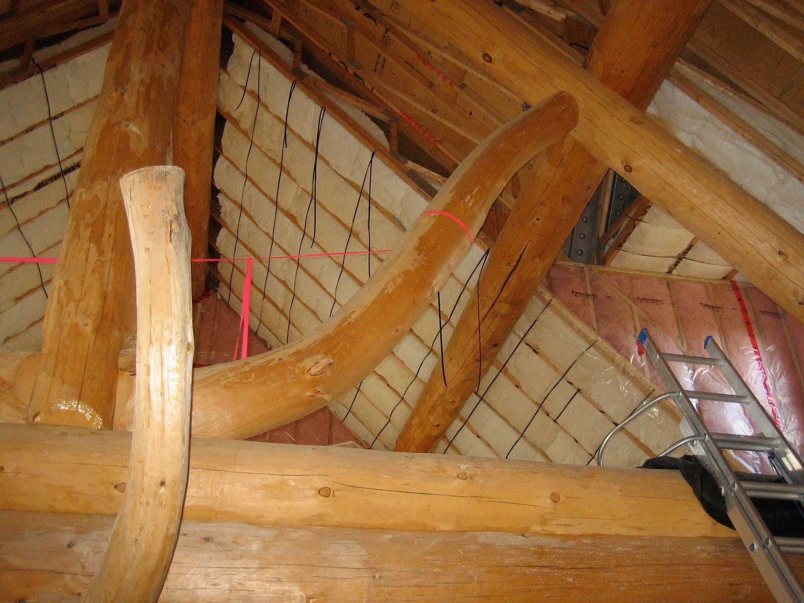 Log House Progress - Angara at Blind River: Insulation ...