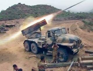 rocket launcher of the yemeni
