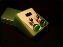 Ojo de Gato Verde Botella y Plata