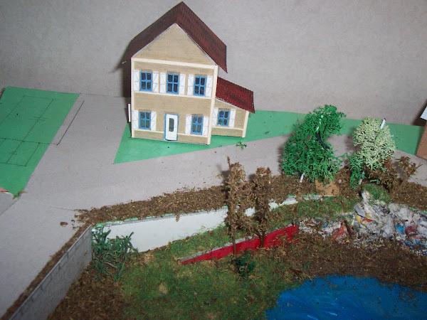 habillage des berges et des maisons