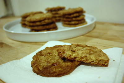Sunshine and Bones: Crispy Salted Oatmeal White Chocolate Cookies