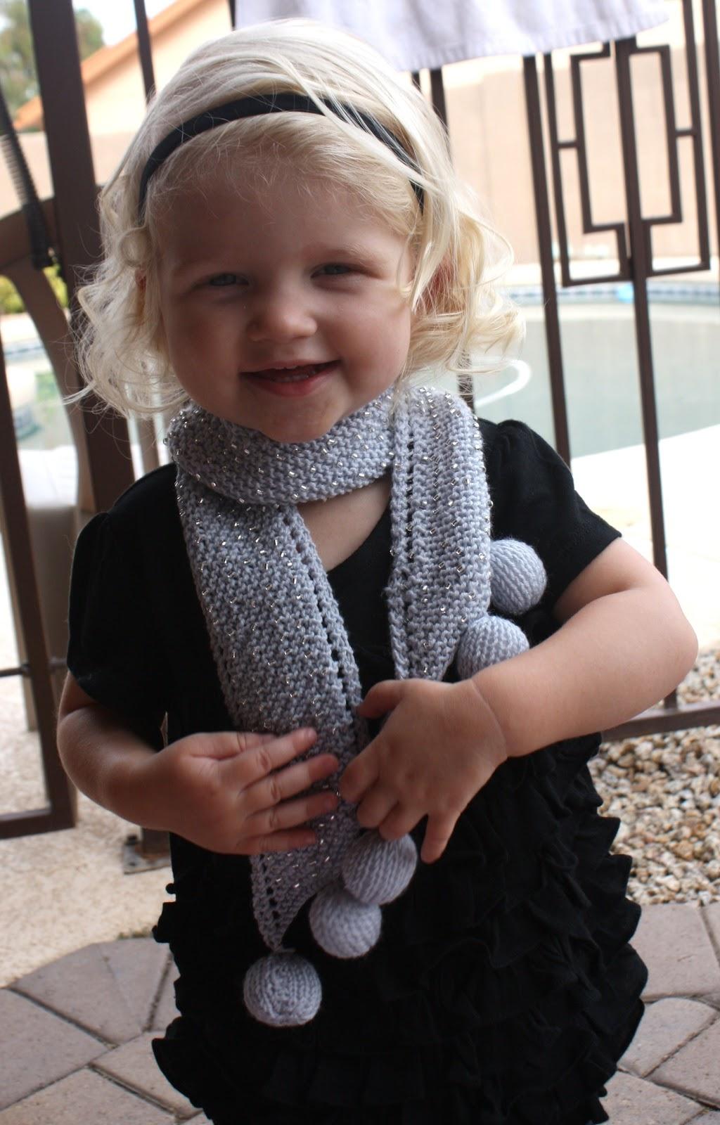 шарфы детские спицами фото