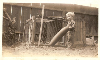 Family Photographs - Post 63: Betty and the Balloon (not a Squash)