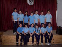 Representantes del coro para la grabación
